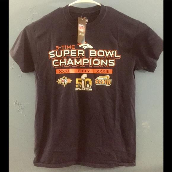 Denver Broncos 3 Time Super Bowl Champions Shirt 4a596d965
